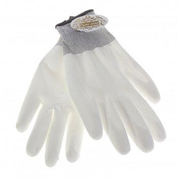 Перчатки нейлоновые с нитриловым покрытием (облив) (10 разм)
