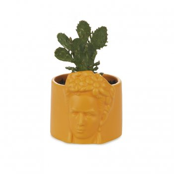 Горшок керамический для цветов frida желтый