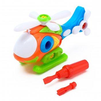 Конструктор вертолет, цвета микс