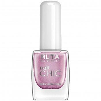 Лак для ногтей ruta nail chic, тон 44, лавандин