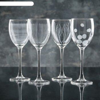 Набор бокалов для вина 250 мл лаунж клаб, 4 шт