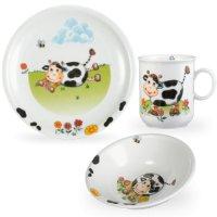 Сервиз детский 3 предм. kuhe (кружка, тарелка 20 см, салатни