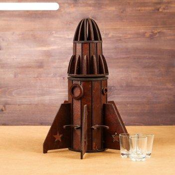 Мини-бар деревянный ракета