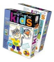 Аппликация для малышей. удачная рыбалка (кот)
