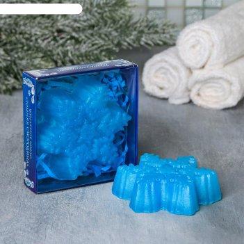 Мыло в форме снежинки с новым годом