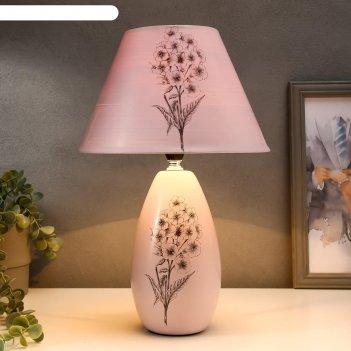 Лампа настольная букет белый e14 40вт 220в 40х25х25 см