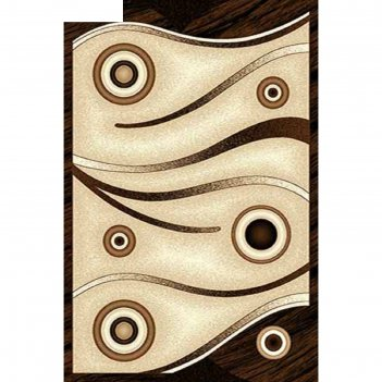 Ковёр карвинг фризе vision deluxe d050, 0,8*1,5 м, прямоугольный, beige