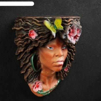 Консоль-навес голова девушки мулатка