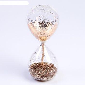 Часы песочные шанаду, сувенирные, 8х8х19 см, песок с золотыми блёстками