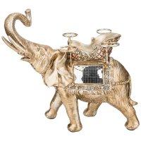 Подставка для бутылки и фужеров бронзовый слон 43*29*41,5 см. (кор=2 шт.)
