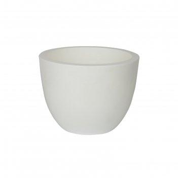 Пластиковый горшок с вкладкой «орион», цвет белый