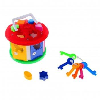 Развивающая игрушка-сортер «умный малыш. домик»