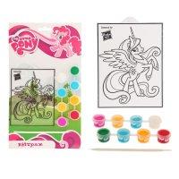 Витраж для росписи my little pony с красками и кистью, микс, t13-sc-mlp1
