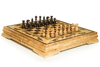 Шахматы большие из карельской береза