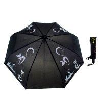 Зонт женский flioraj тайные знаки, кошки, 3 сложения, суперавтомат, проявл