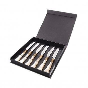 Набор столовых ножей domus design ginevra gold (6 шт)