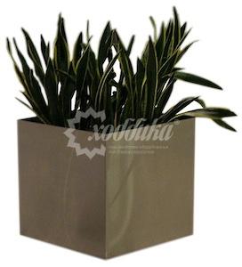 Вазон для цветов «хай-тек квадро» размер 300х300х300