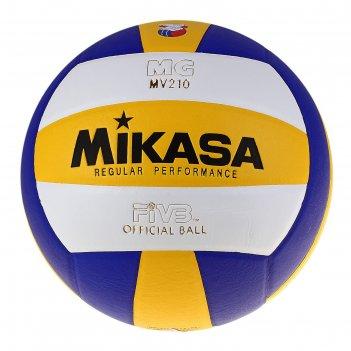 Мяч волейбольный mikasa mv210, р.5, бело-желто-синий