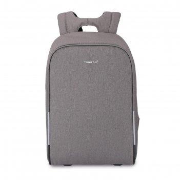 Рюкзак с usb,  tigernu t-b3213 светло-серый, 16