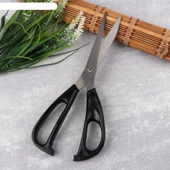 Ножницы закройные, 25 см, цвет чёрный
