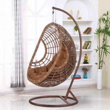 Подвесное кресло cocoon chair 300 beige, садовая мебель