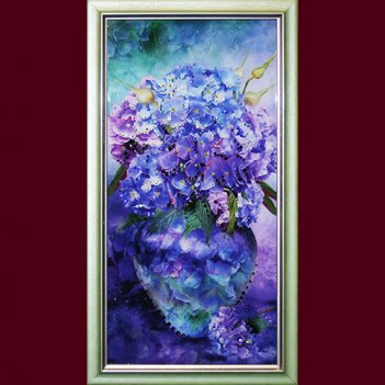 Картина сваровски - гортензия малая