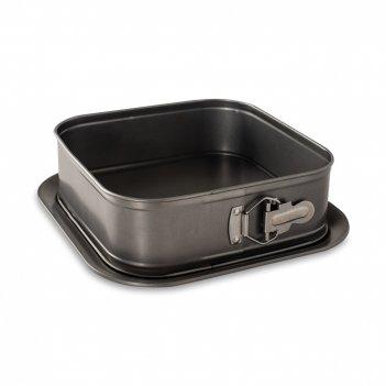 Форма для выпечки разъемная, размер: 24 х 24 см, материал: сталь, цвет: че
