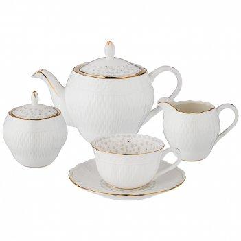 Чайный сервиз вивьен на 6 персон, 15 пр. 950/300/200/250 мл