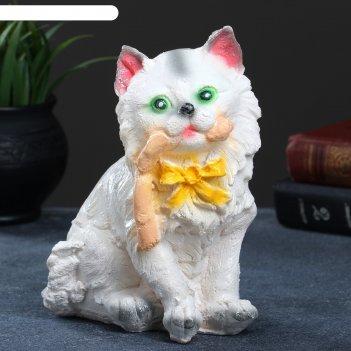 Копилка кот с колбасой 20х14см