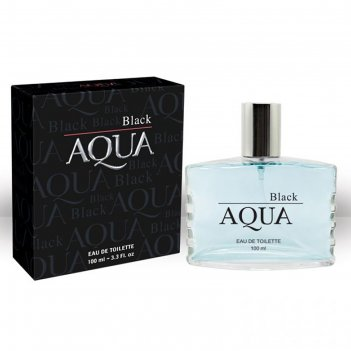 Туалетная вода мужская aqua black, 100 мл