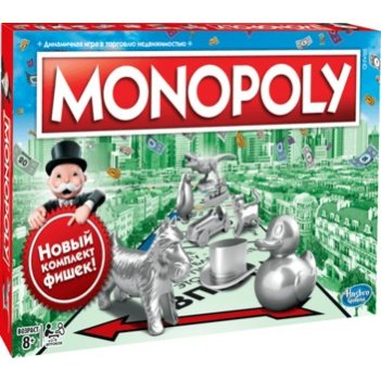 Настольная игра hasbro gaming c1009121 монополия классика