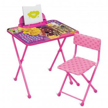 Набор детской мебели «disney 2 рапунцель. новая история»: стол, стул