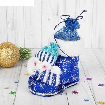 Конфетница ботинок снеговик, вместимость 150 грамм