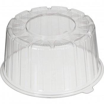 Крышка т-192к эконом, круглая, прозрачная, 20,4х9,6 см