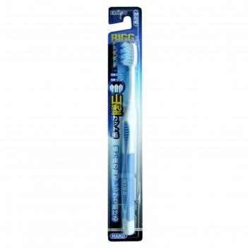 Зубная щетка ebisu с комбинированным w-образным срезом ворса, жёсткая