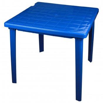 Стол квадратный размер 800х800х740, цвет синий