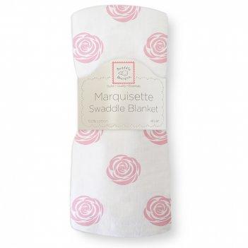 Пеленка детская тонкая swaddledesigns маркизет pink rose
