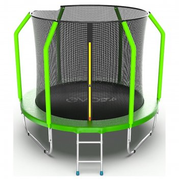 Батут с внутренней сеткой и лестницей evo jump cosmo internal, диаметр 8ft