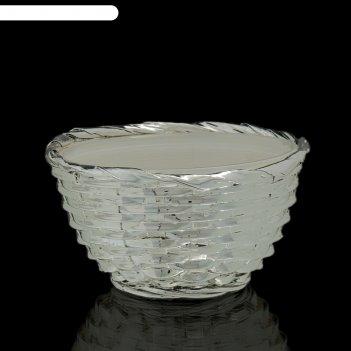 Чаша плетение, белая