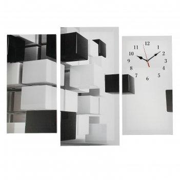 Часы настенные модульные «абстракция», 60 x 80 см