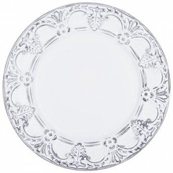Тарелка декоративная пластиковая 33*33*2,5 см без упаковки (кор=12шт.)