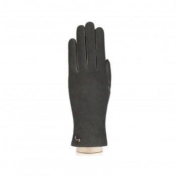 Перчатки женские, размер 6, цвет тёмно-серый