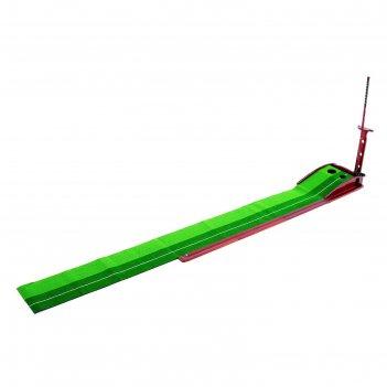 Дорожка для гольфа, в комплекте: дорожка для гольфа 3-х метровая с 2 лунка