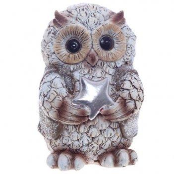 Фигурка декоративная сова, 6х6х9 см