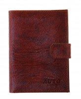 Обложка для автодокументов+бумажник, игуана коричневая