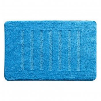 Коврик для ванной, комнаты 50х80 см blue lines