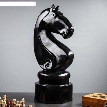 Садовая фигура конь черный