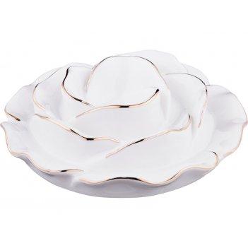 Подставка под яйцо цветочная симфония диаметр=12 см (кор=48шт.)