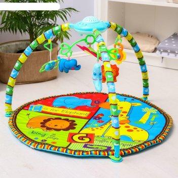 Развивающий коврик «африка», с проектором, муз. 4 колыб., 8 сказ., свет, и