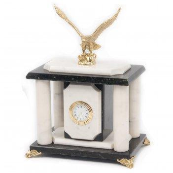 Часы орел бронза мрамор змеевик